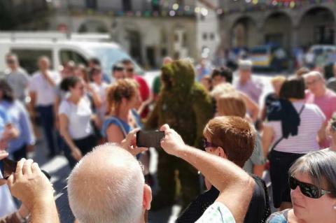 Hombre de Musgo en el Dia del turismo de Castilla y León