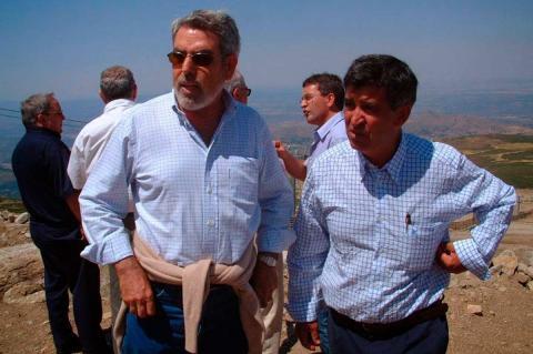Francisco Montero junto al ex alcalde Alejo Riñones