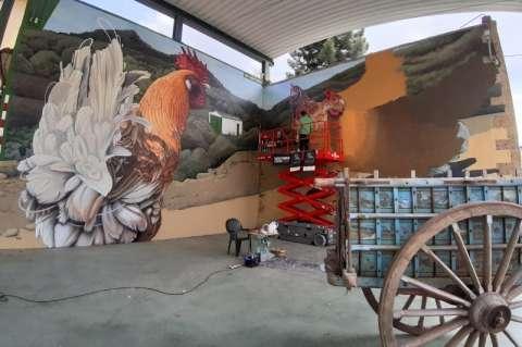 Uno de los trabajos en las fachadas de Garcibuey