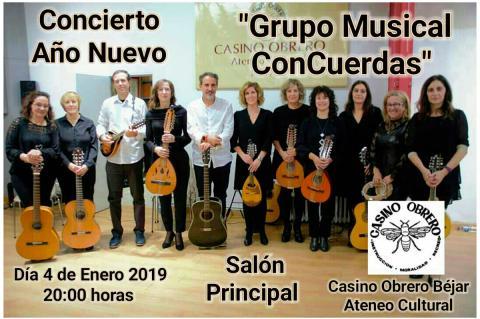 Grupo musical Concuerdas, que actuará en el Casino Obrero