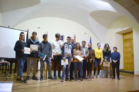 Grupo de alumnos del concurso Motivar para aprender