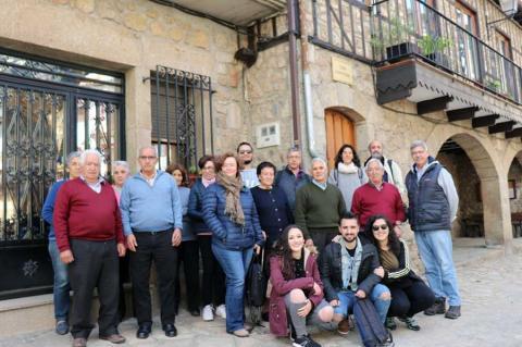 Participantes del proyecto en Herguijuela de la Sierra