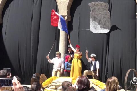 """Recreación Histórica """"Béjar 68"""" por los alumnos del IES Ramón Olleros de Béjar"""