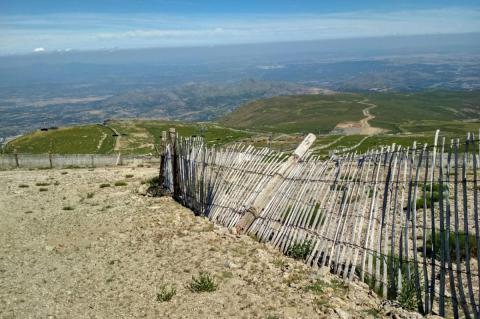 Daños en la estación de esquí de La Covatilla