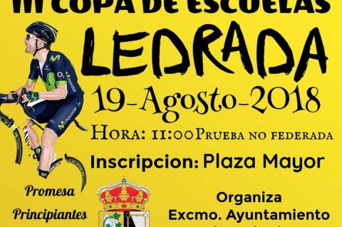 Cartel III Copa de escuelas Ledrada