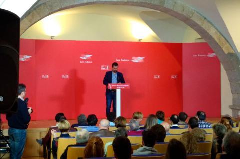 Luis Tudanca durante la presentación de Elena Martín Vázquez