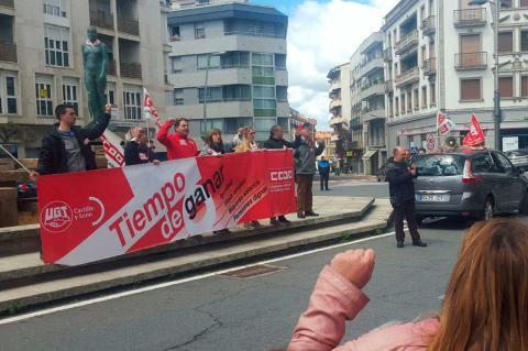 Manifestación del Primero de Mayo en la Plaza de España