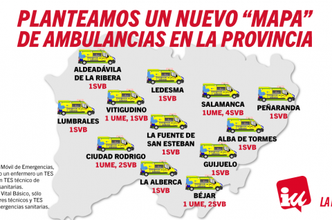 Mapa de las ambulancias Salamanca IU