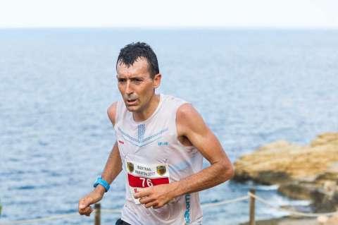 Miguel Heras disputando la prueba en Ibiza