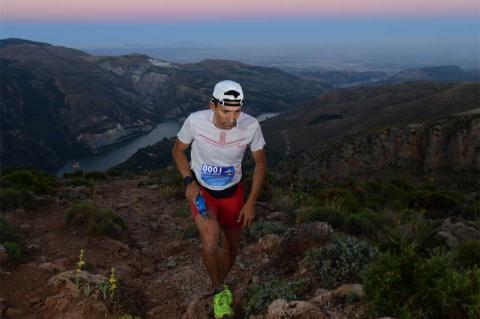 Miguel Heras durante la Ultra Sierra Nevada