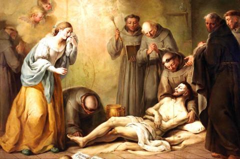 La muerte de San Francisco de Asís, de José Camarón Boronat (Museo del Prado)