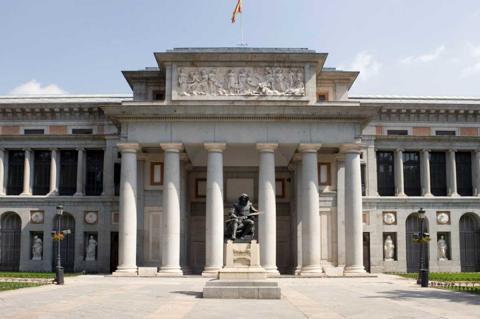 Vista exterior del Museo del Prado, Madrid