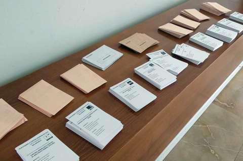 Papeletas de varios partidos que concurren a las elecciones generales 2019