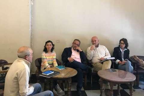 Reunión entre los partidos políticos municipales y la PDBB