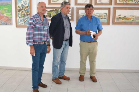El alcalde, Alejo Riñones, el concejal, Alejandro Romero y el arquitecto y paisajista José C. Sanz