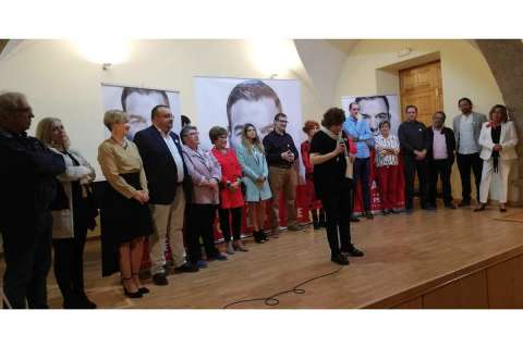 Elena Martín Vázquez, PSOE Béjar, durante la presentación de su candidatura