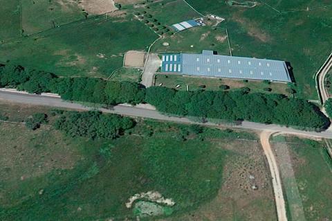 Vista aérea de la localización del proyecto