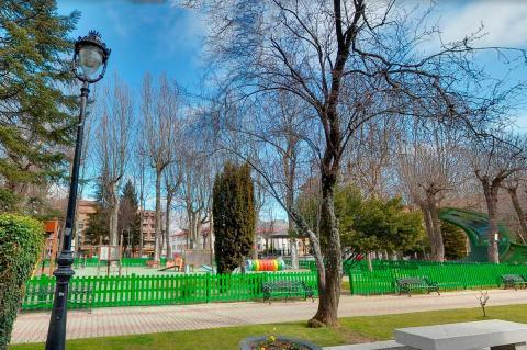 Zona de juegos del parque municipal de La Corredera