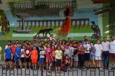 Foto de familia de los participantes en el torneo