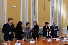 Elena Martín Vázquez durante la reunión de la Red de Juderías