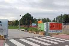 Acceso a al ciudad deportiva de La Aldehuela, Salamanca
