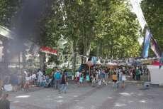 Ambiente durante la celebración del mercado en La Corredera