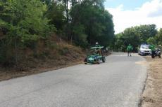 Participantes en la carrera de autos locos