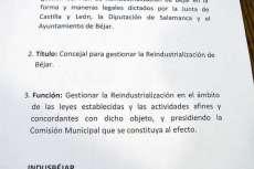 Documento completo presentado por IndusBéjar durante la reunión