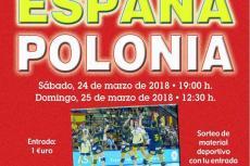 Cartel promocional balonmano España-Polonia en Béjar