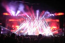La orquesta Panorama durante su actuación en las fiestas de Béjar