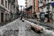 Calle Zuñiga Rodriguez con nieve