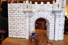 Parte de la maqueta inacabada de la Puerta de la Villa de Béjar