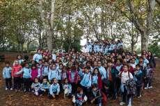 Alumnos del colegio María Auxiliadora durante la actividad