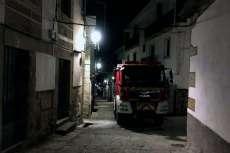 Camión de bomberos en una calle