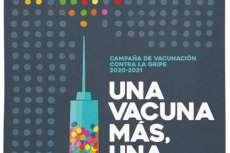 Cartel de la campaña de vacunación de la Gripe