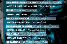 Cartel anunciador de la actividad Históricos con Jazz