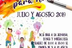 Cartel Talleres infantiles de verano