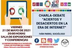 Cartel anunciador de la charla sobre internet en el Casino Obrero de Béjar