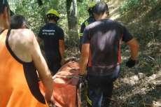 Bomberos rescatan a ciclistas accidentado