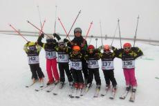 Equipo prealevines durante la Copa Itra Ski Cup