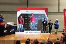 Pódium 2ª fase de laAudi Quattro Cup. Carlos Gómez (3º) y Alejandro Sánchez (4º)