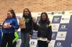 Cristina Gómez Sánchez  y Valeria Gutiérrez Hernández en el podium