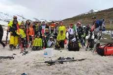 Foto del equipo del Club de esquí La Covatilla en Alto Campoo