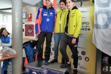 Juan Gómez y Pablo Gómez en el pódium de los Campeonatos de Castilla y León de Esquí Alpino disputados en San Isidro