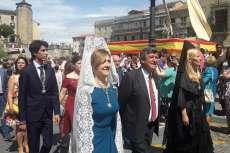 Concejales del PP durante la procesión del Corpus