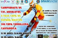 Cartel Campeonato CyL Absolutos en la estación de esquí Sierra de Béjar - La Covatilla