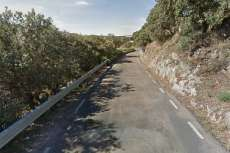 Carretera de Aldeacipreste. Ubicación aproximada del accidente