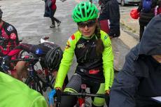 Natalia Ovejero durante la prueba disputada en Cuellar