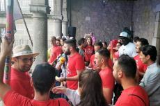 Peña El Lokal durante el pregón