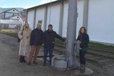 Inauguración del aparcamiento en la antigua estación de tren